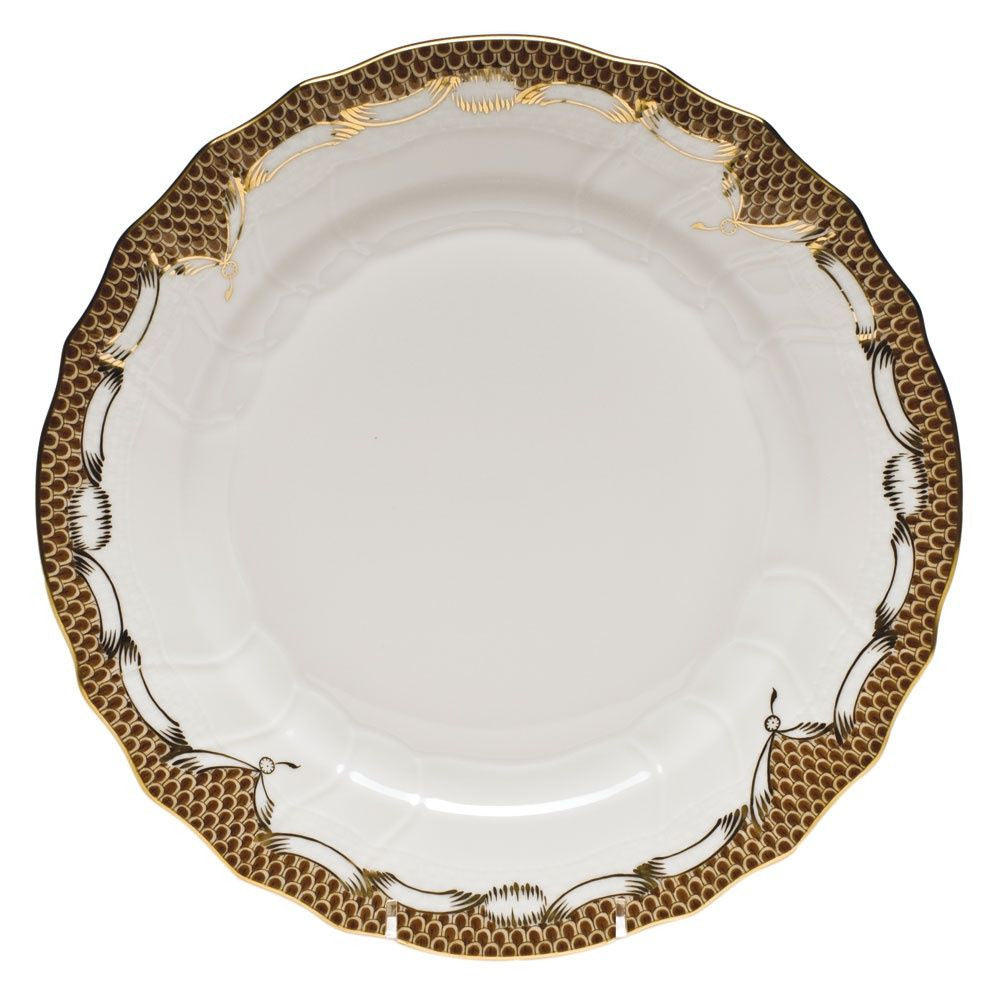 Brown Fish Scale Dinner Plate