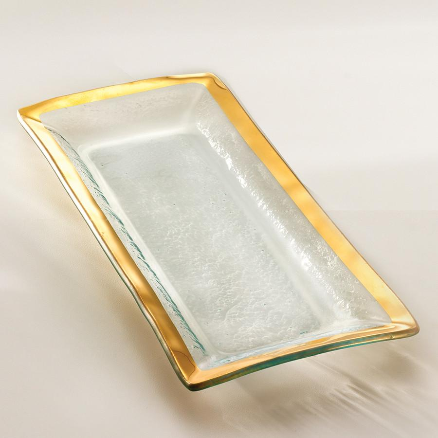Roman Antique Gold Appetizer Tray