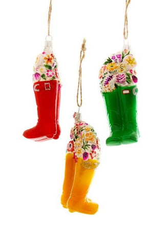 Cutting Gardeners Wellies Ornament