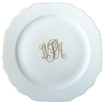 Georgian Gold Monogrammed Bread And Butter