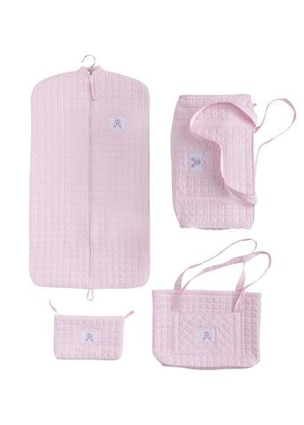 Ballet Quilted Luggage-Pink