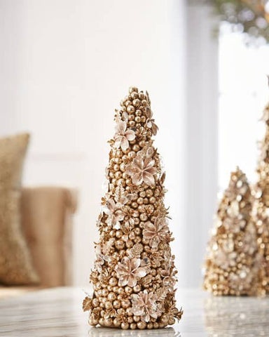 "Champagne Flower 18"" Cone Tree"