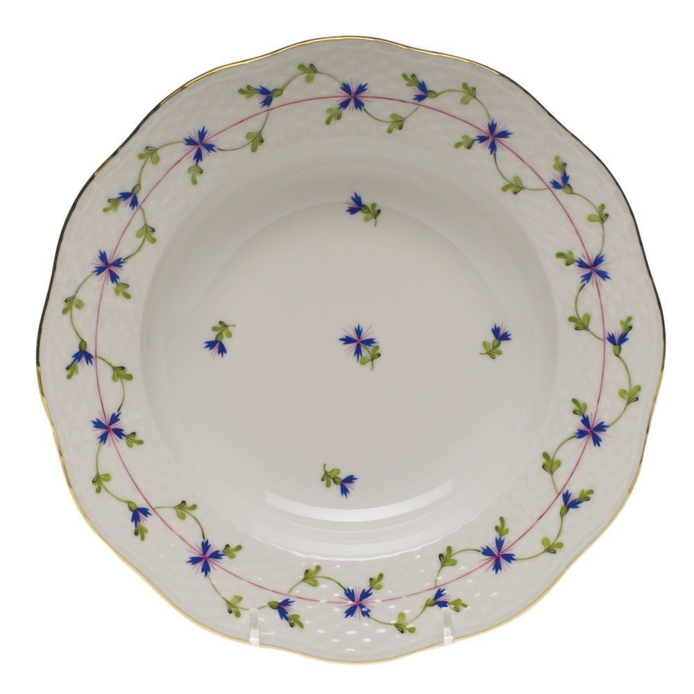 Blue Garland Rim Soup Plate