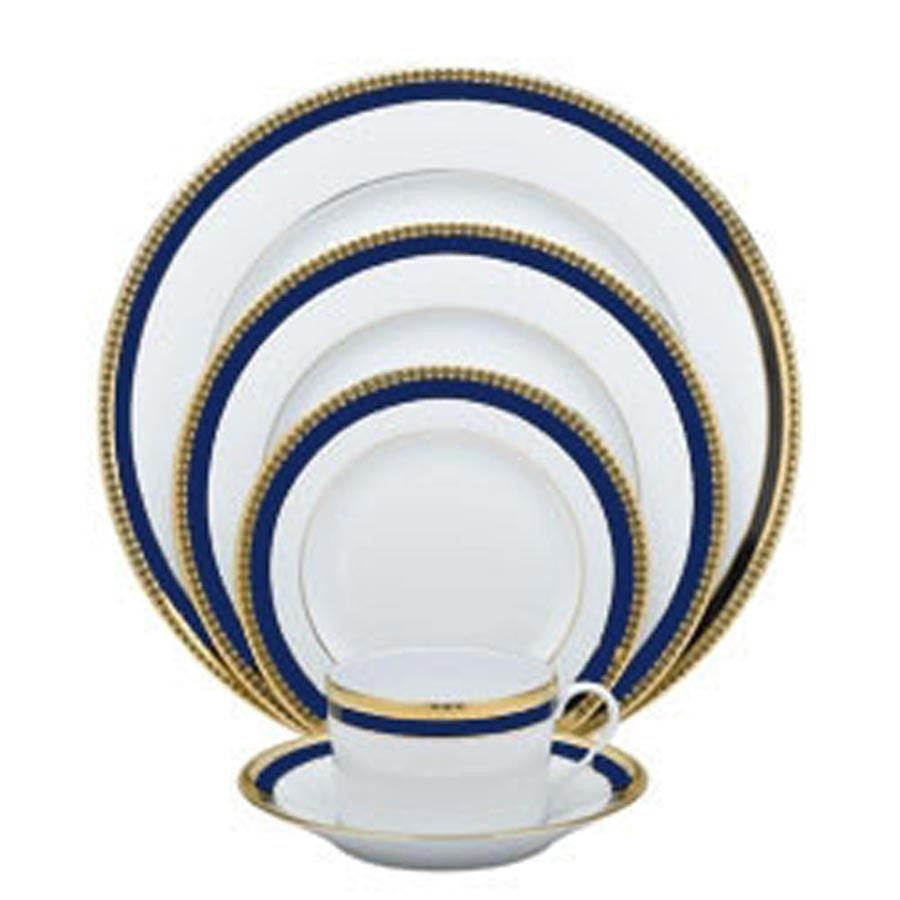 Symphonie Blue and Gold Dessert Plate