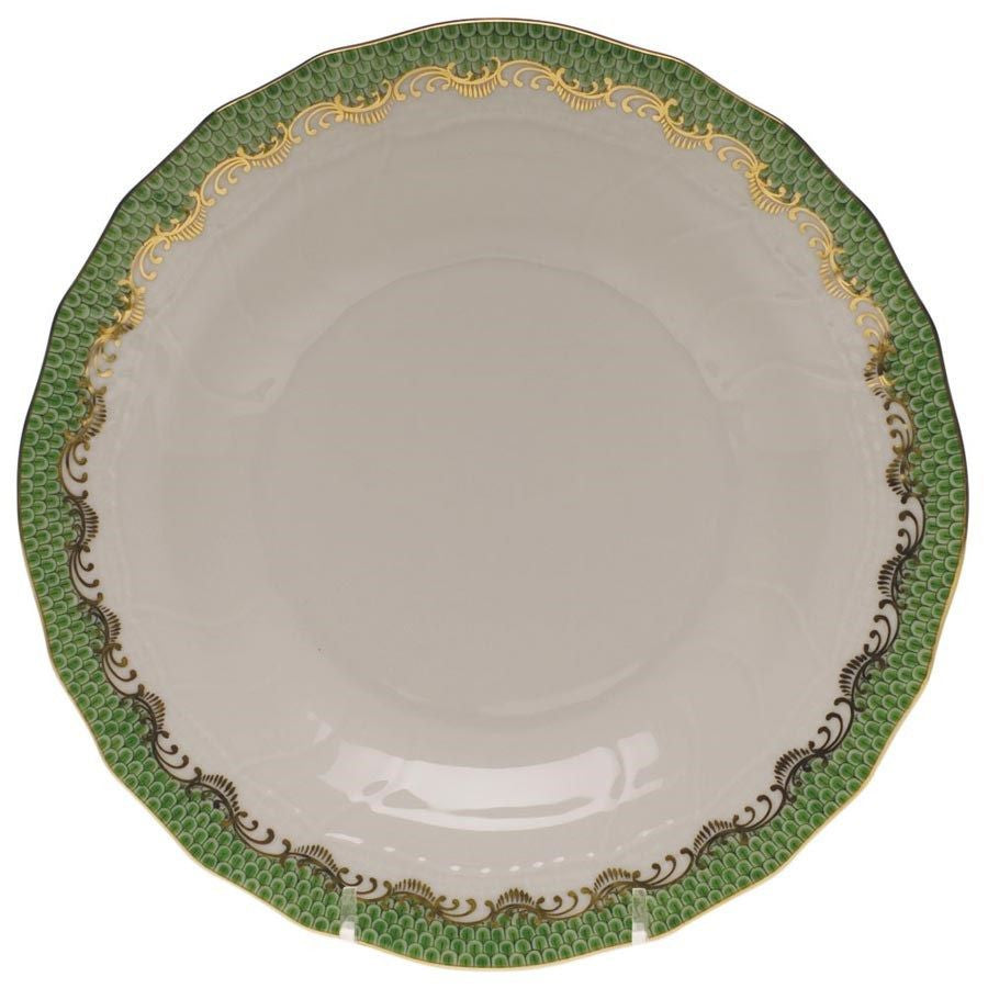 Green Fish Scale Service Plate