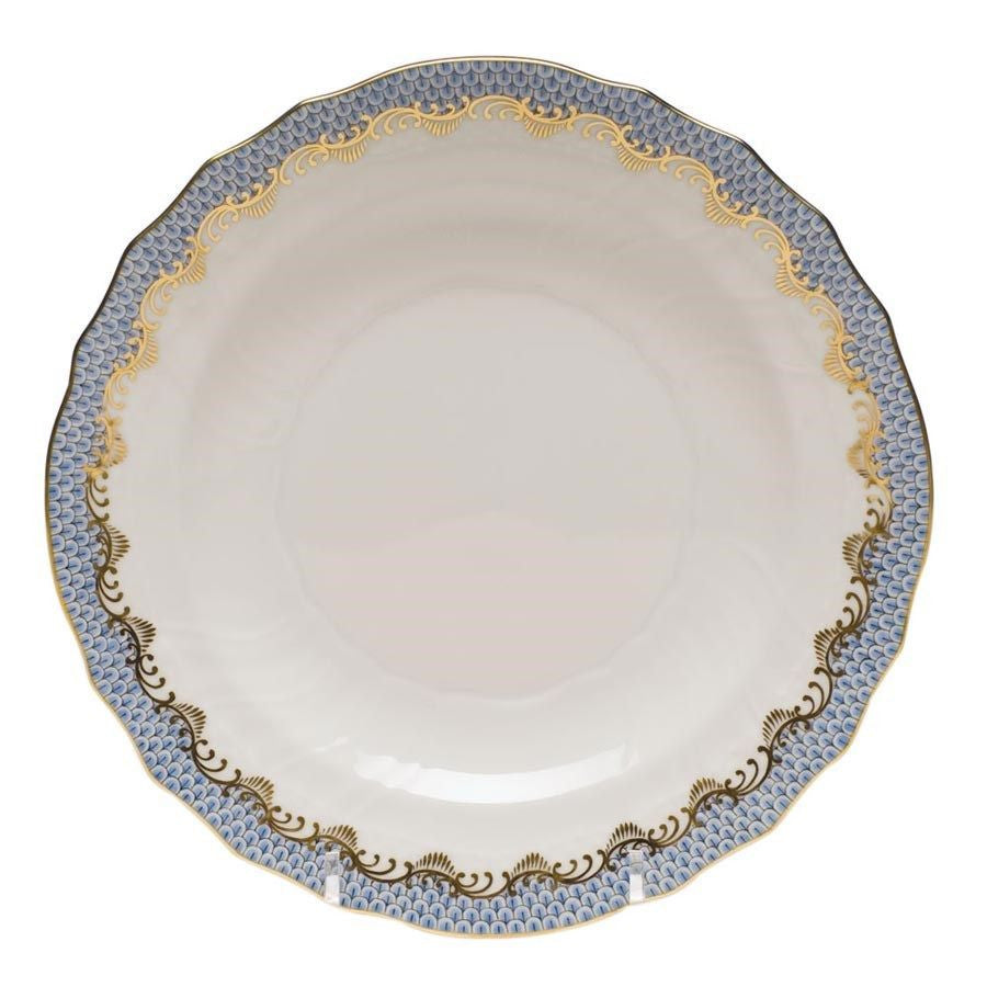Light Blue Fish Scale Salad Plate