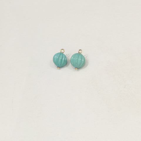 Turquoise Carved Drops