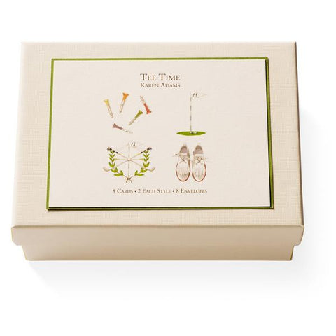 Tee Time Note Card Box