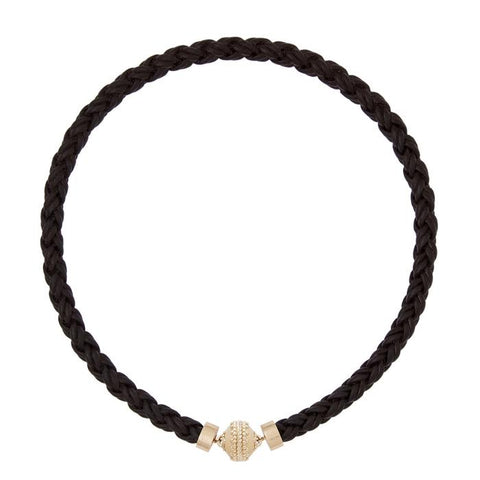 Bolo Black Leather Necklace