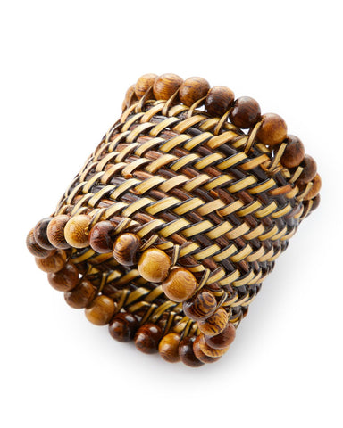 Walnut Beaded Napkin Rings