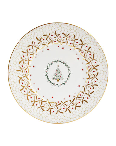 Noel Salad Plate-Christmas Tree