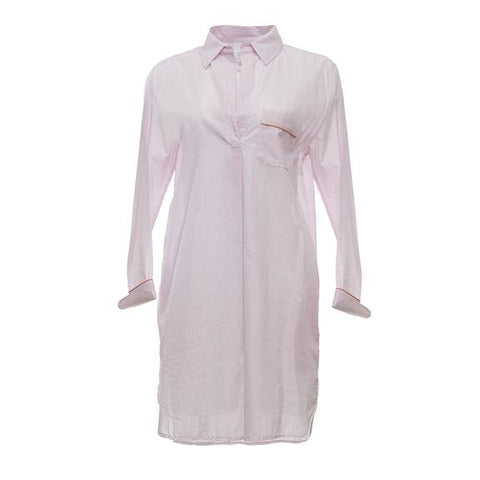 Classic Gingham Nightshirt-Pink