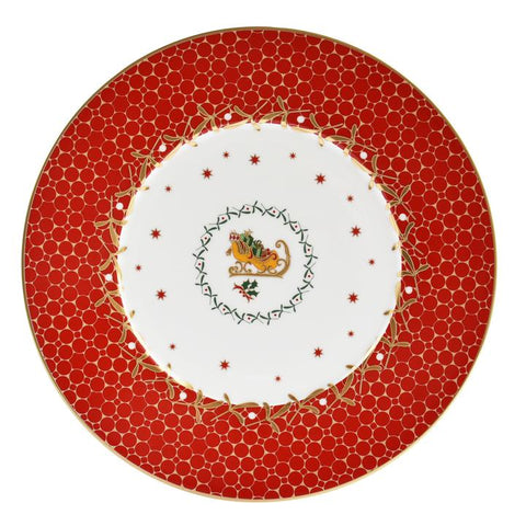 Noel Salad Plate-Red Sleigh