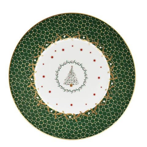 Noel Salad Plate-Green Tree