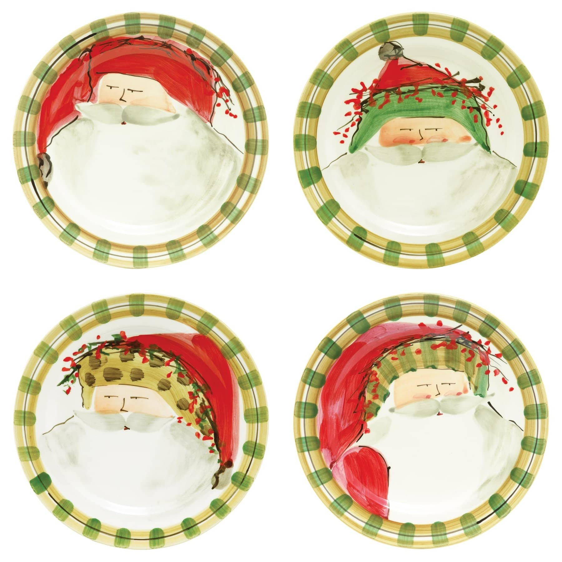 Old St. Nick Assorted Dinner Plates (Set of 4)