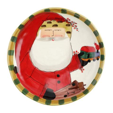 Old St. Nick Shallow Bowl with Train