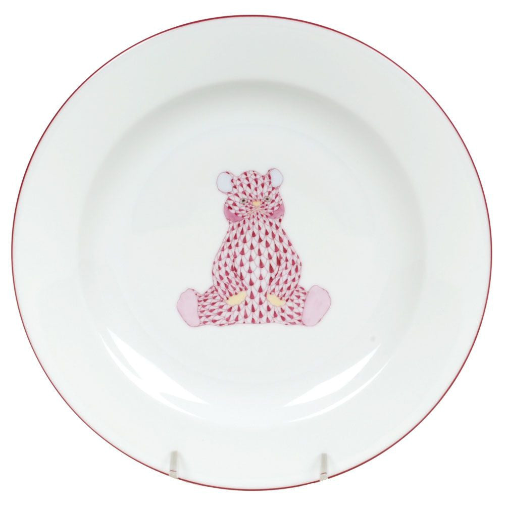 Baby Plate Pink Bear