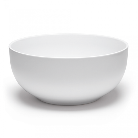 "White Diamond 10"" Round Serving Bowl"