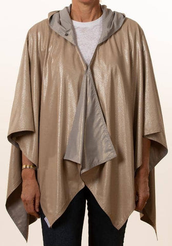 Hooded Camel Silver Metallic & Light Gray Gold Metallic RAINRAP