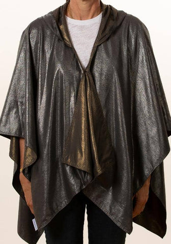 Hooded Dark Gray Silver Metallic & Dark Gray Gold Metallic RAINRAP