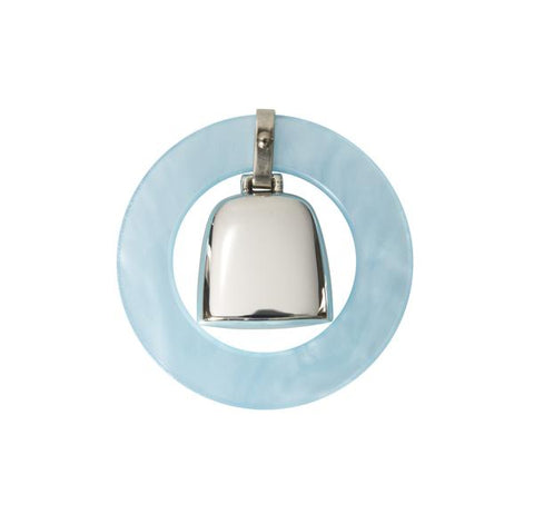 Teething Ring Rattle - Blue