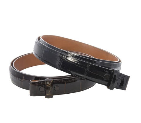 Black Alligator Belt