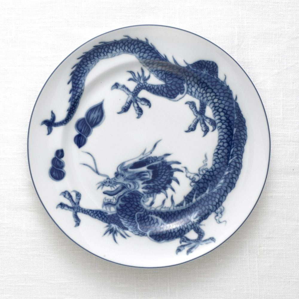 Blue Dragon Bread & Butter Plate