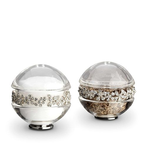 Crystal Garland Salt and Pepper Shakers-Platinum