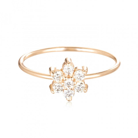 Single Diamond Star Ring