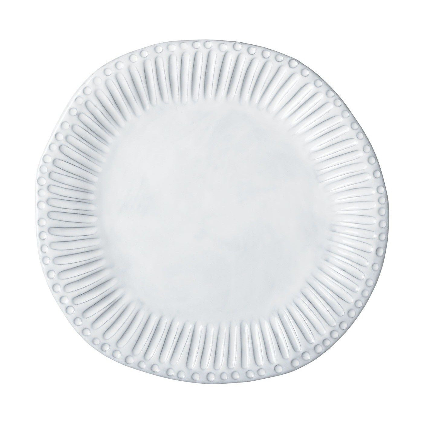 Incanto White Stripe American Dinner Plate