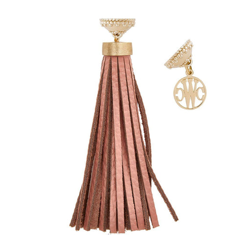 Baja Blush Leather Tassel