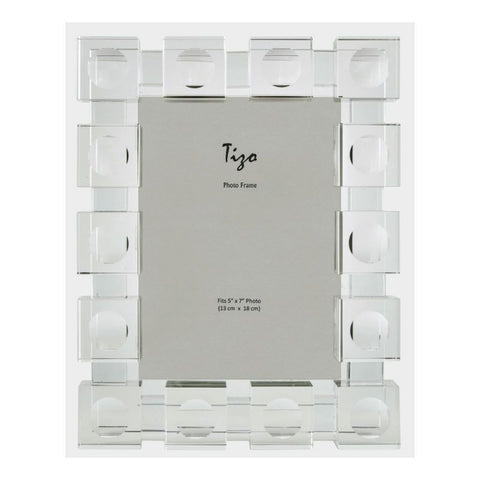 Clear Cube Crystal Picture Frame