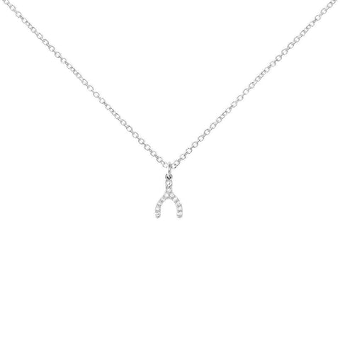 Little Wishbone Necklace, Sterling Silver
