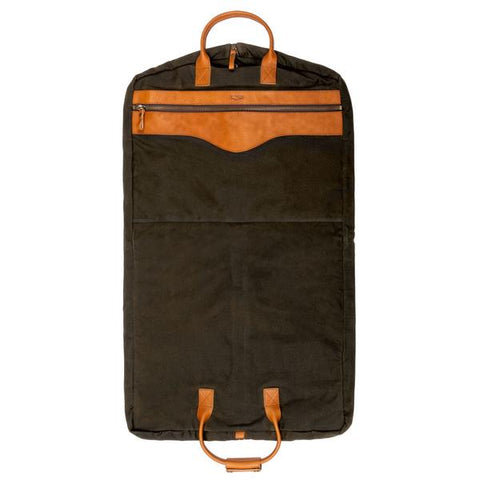 Garment Bag-Forest With Smoke Leather