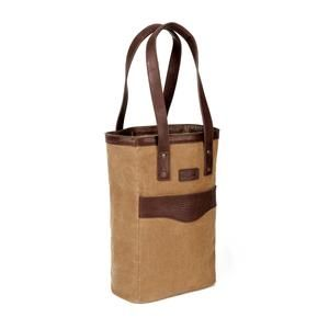 White Wing Waxed Canvas Two Bottle Wine Tote