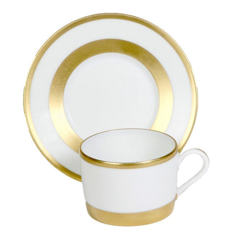 William Gold Tea Cup & Saucer