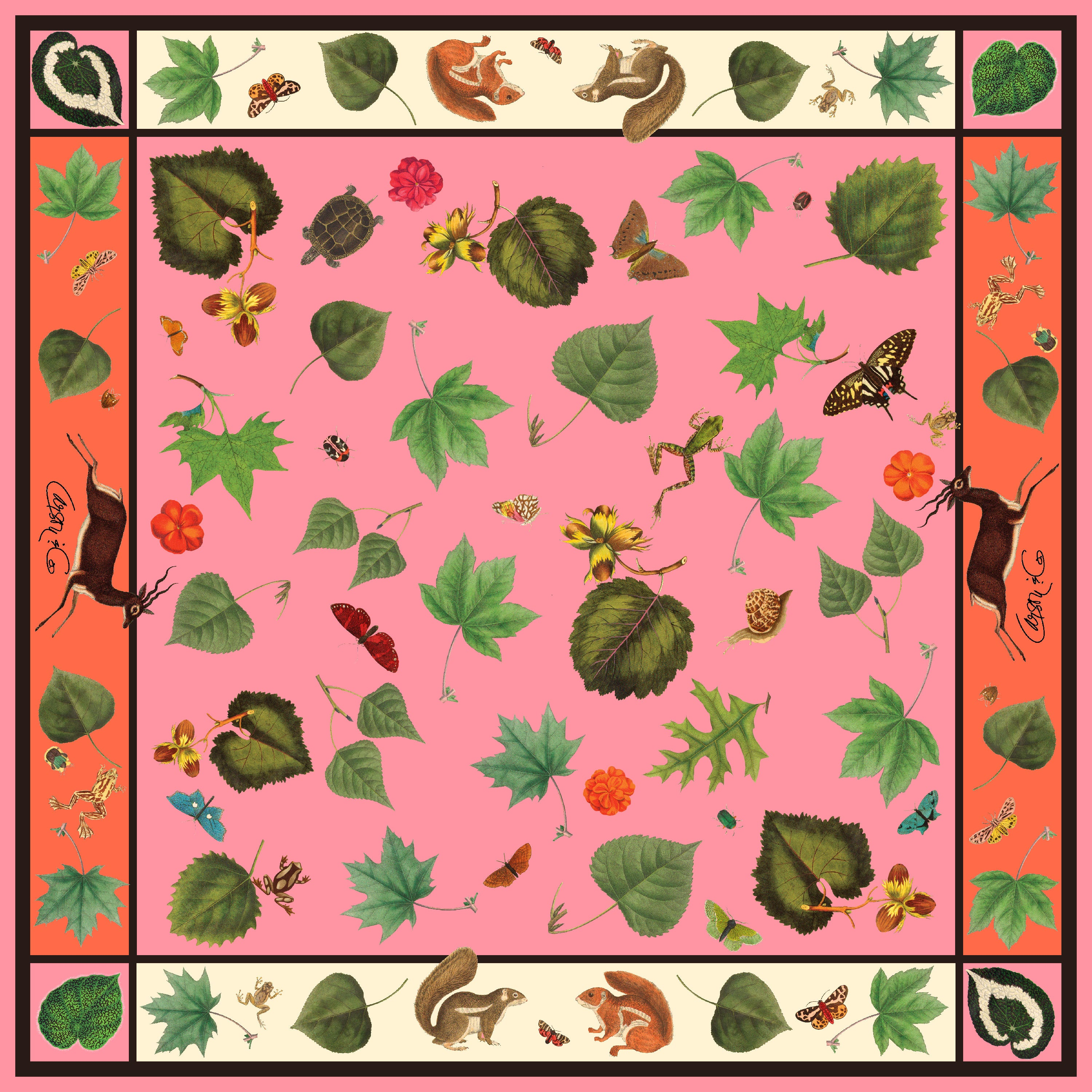 Woodlands Gerber Pink & Orange Scarf