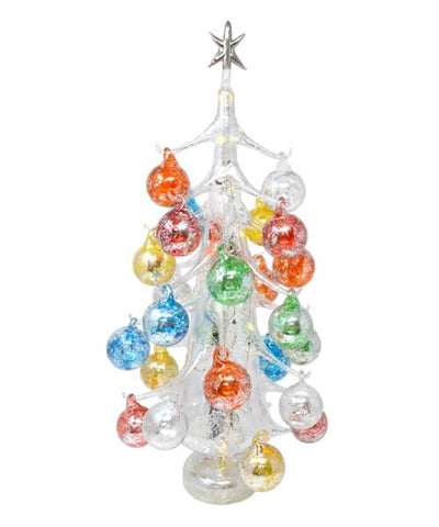 Silver Lucido Luminosa Large Glass Tree