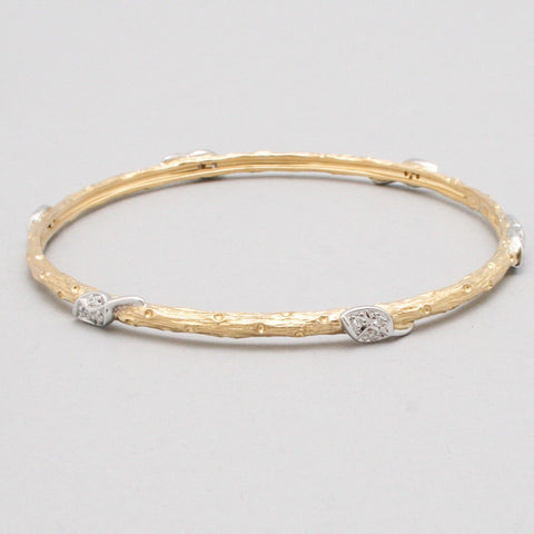 Bangle With 6 Diamond Leaves