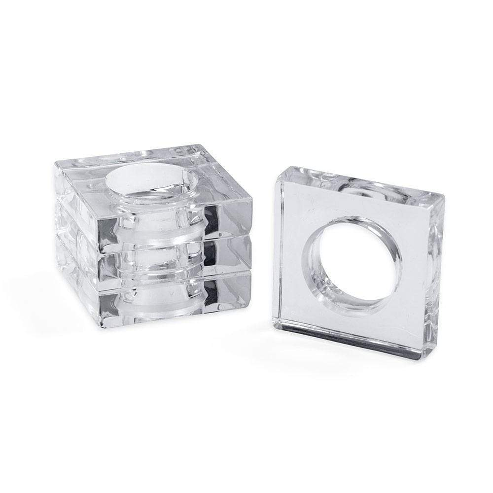 Acrylic Napkin Rings in Crystal Clear - Set of 4