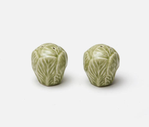 Clarise Soft Green Cabbage Salt and Pepper Shakers