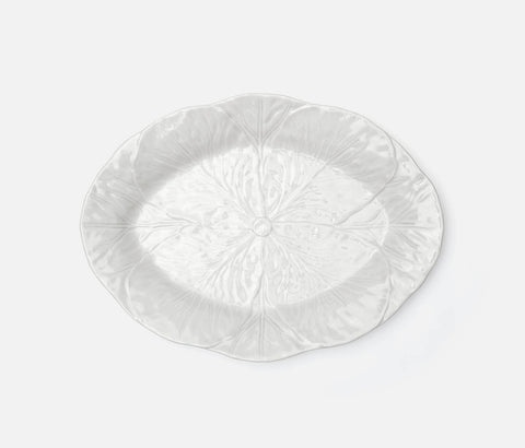 Clarise White Cabbage Large Oval Platter