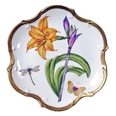Bouquet Of Flowers Salad Plate
