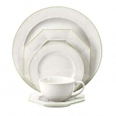 Octavia White with Cucumber Octagonal Salad Plate