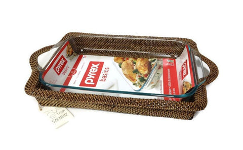 Rectangular Pyrex Holder, 4-QT
