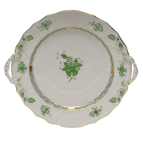 Chinese Bouquet Green Chop Plate