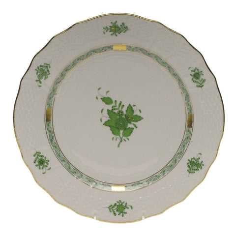Chinese Bouquet Green Service Plate