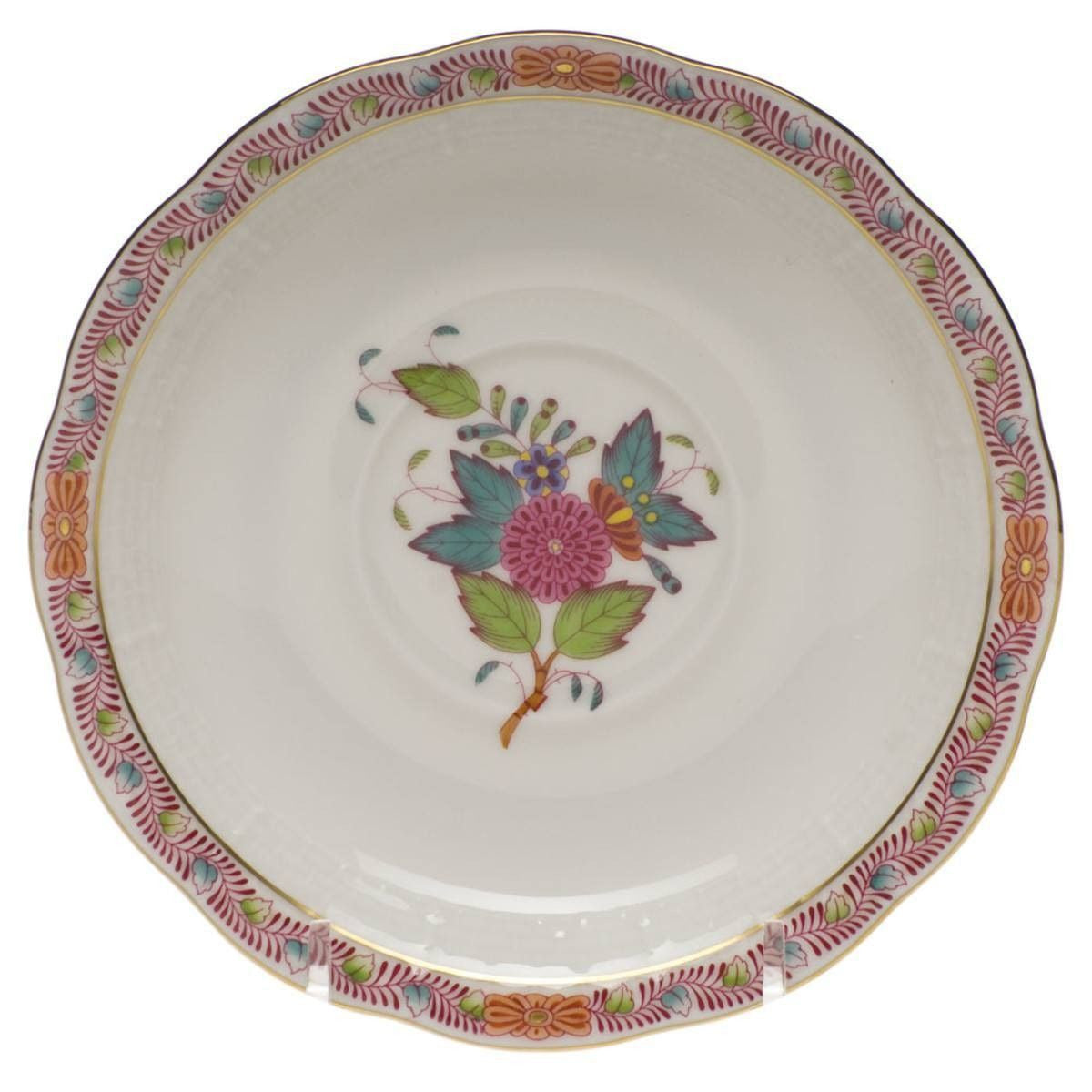Chinese Bouquet Multi Color Saucer