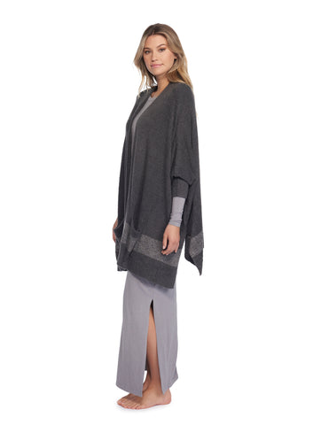 Cozychic Lite Cliffside Wrap-Carbon/Pewter Stripe