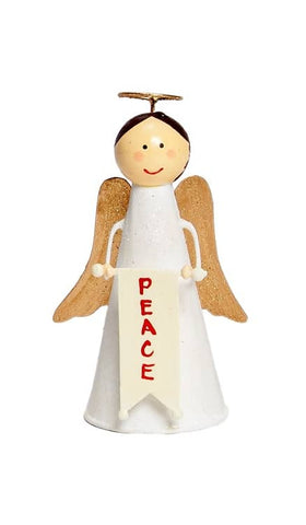 "5.5"" Cone Angel with Peace Banner"